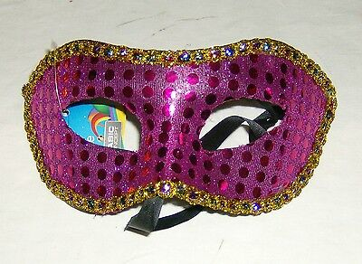 Venezianische Maske  Goldend Lila