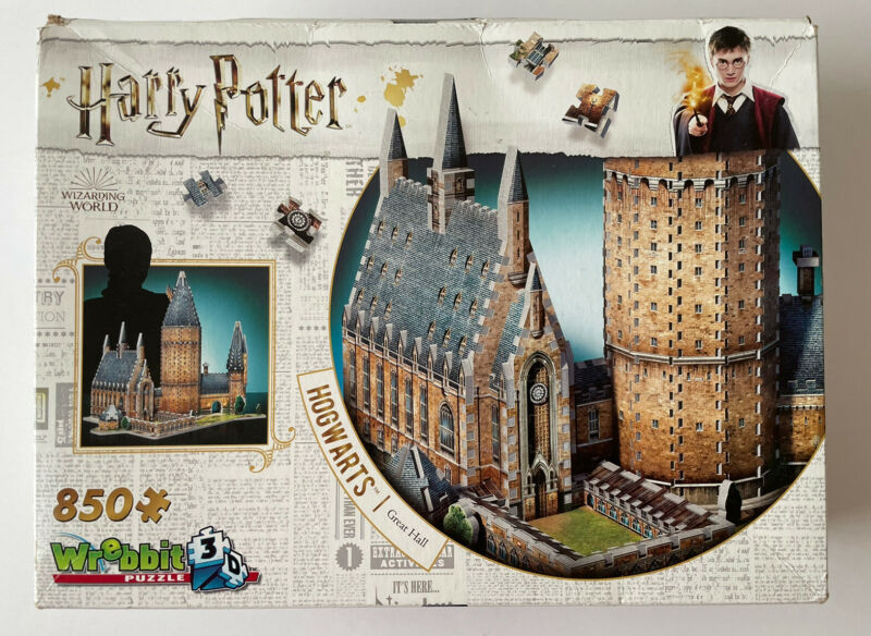WREBBIT 3D - Harry Potter Hogwarts Great Hall 3D Jigsaw Puzzle - 850 Piece 2018