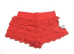 Jolt Crochet Tiered Shorts Stretch Summer Boho Cotton NWT Size XL