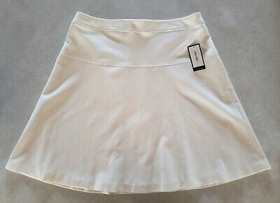 Nine West Womens Safari Flare Skirt Lily Size 8 Ivory