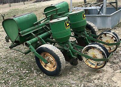 Vintage John Deere 1240 2 Row Corn Planter Deer Plot Fertilizer Insecticide Box
