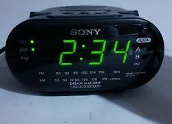 Sony Dream Machine FM/AM Clock Radio Alarm Clock ICF-C318 TESTED