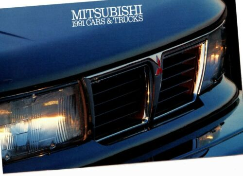 1991 MITSUBISHI Line Sales Brochure 3000 GT VR-4 SL Eclipse Montero