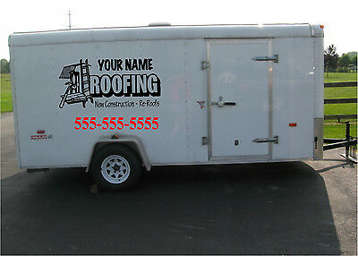 Roofing Business Lettering Sign Vinyl Stickers Graphics Sign 30x45 Set Of 2
