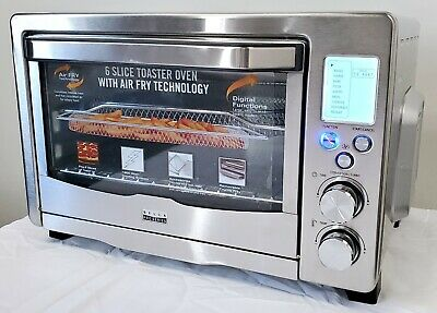 Bella 90082 Pro Series 6-Slice Air Fryer Toaster Oven Convection Stainless Steel