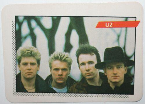 U2 1st Series Rock Star Concert Cards 91 Bono Dublin Ireland Irish Band AGI 1985
