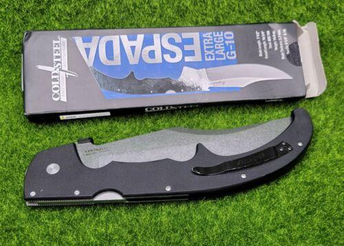 "Cold Steel Large G-10 XL Espada, Plain Edge 7.5"" Blade Folding Knife - 62MGC"