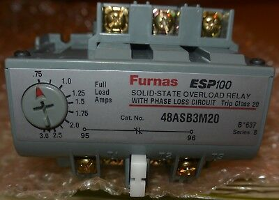 Furnas/Siemens ESP100 Solid state overload relay part # 48ASB3M20