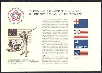 SC49/B34 Souvenir Card - American Revolution Bicentennial - 1986 Historic Flags