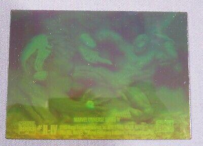 1993 Marvel Universe SPIDER-MAN vs. VENOM  H-IV Hologram Chase Card Holo Insert
