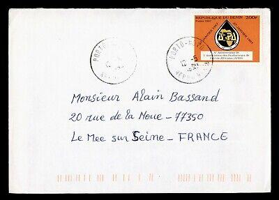 DR WHO 1999 BENIN PORTO NOVO TO FRANCE  g16554