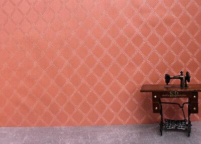 4121 - Tapete für´s Puppenhaus ** Rauten in Terracotta** Puppenstube ()