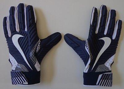 Nike D-Tack 5.0 Lineman Fußball Handschuhe College Marineblau/Weiß L ()