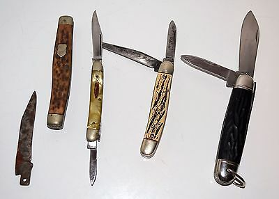 4 Old Knives Knife Imperial Colonial Monarch Pocket Mother of Pearl Japan USA