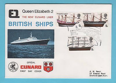 Cunard Official Cover 1969 - 3no Stamps including the Cutty Sark stamp with PMK