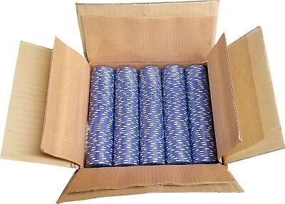 1000 Blue Diamond Mold Clay Composite Poker Chips 11.5gr  GREAT DEAL - Diamond Clay Composite Poker Chips
