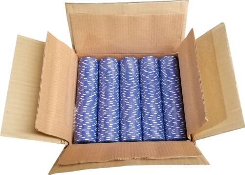 1000 Blue Diamond Mold Clay Composite Poker Chips 11.5gr  GREAT DEAL *