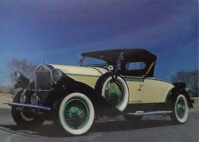 1928 Pierce Arrow Model 81 Rumble Seat Roadster 3D Lenticular Poster Print