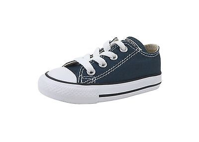 Converse All Star Low Chuck Taylor Infant Toddler Shoes for Boys Navy Blue 7J237 - Chucks Shoes For Toddlers