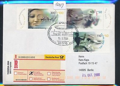 10119) So-R-Label THÜBRIA 2000 99510 Apolda SST Tag der Briefmarke15.10.2000