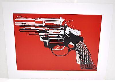 "Andy Warhol Guns 1981 Print/Poster 11"" x 14"" Red"