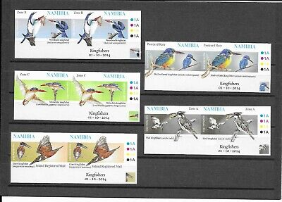 Namibia 2014 Kingfishers Very Rare Imperf Plate Pairs