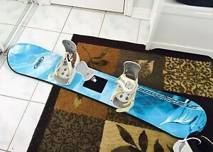 Snowboard and bindings/boots