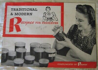 Estate Sale - Vintage Advertising Recipe Booklet - Parowax Recipes for Preserves