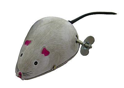 😊 Blechspielzeug Maus mit Aufziehmotor MS077 -Blechmaus mit Wackelschwanz