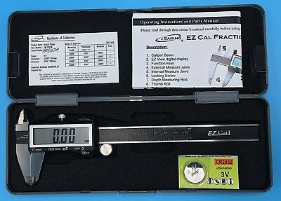 Igaging Ip54 Electronic Digital Caliper 0-6 Display Inchmetricfractions Black