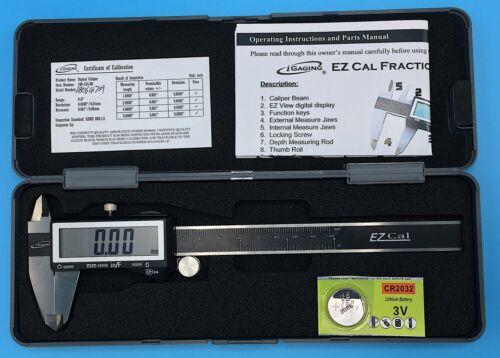 "iGAGING IP54 Electronic Digital Caliper 0-6"" Display Inch/Metric/Fractions Black"