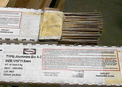 116 X 36 1lb Harris 3alb-2 Aluminum Bronze Tig Welding Rod Brz A-2 Ercual-a2