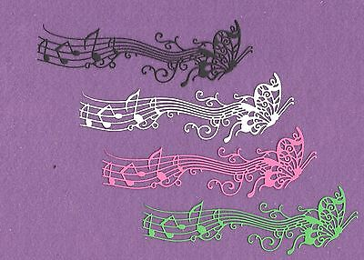 BUTTERFLY MUSIC die cuts scrapbook cards