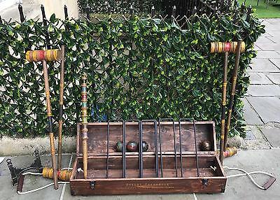 Deluxe Wooden Croquet Set