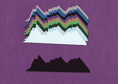 MOUNTAIN die cuts scrapbook cards