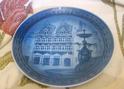 Royal Copenhagen Decorative plate Amagertory Kopenhagen 1980 7¼ ins wide