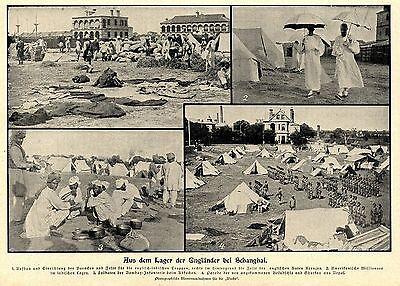China Boxer Tientsin nach der Erstuermung Lager der Engländer bei Schanghai 1900