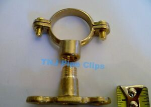Brass Munsen Ring & Male Backplate all sizes or Chrome Plated - Copper Pipe Clip