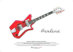 jack white 39 s airline jb hutto guitar art poster a3 size ebay. Black Bedroom Furniture Sets. Home Design Ideas