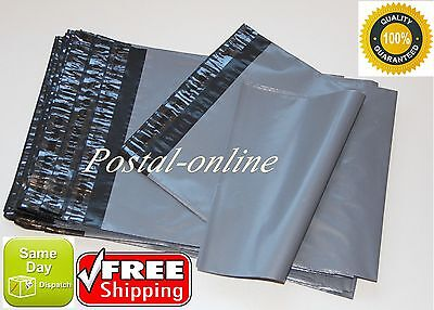 500 x Grey Plastic Mailing Bags 165 x 230 mm 6.5 x 9 STRONG CHEAPEST 60 mu dvd