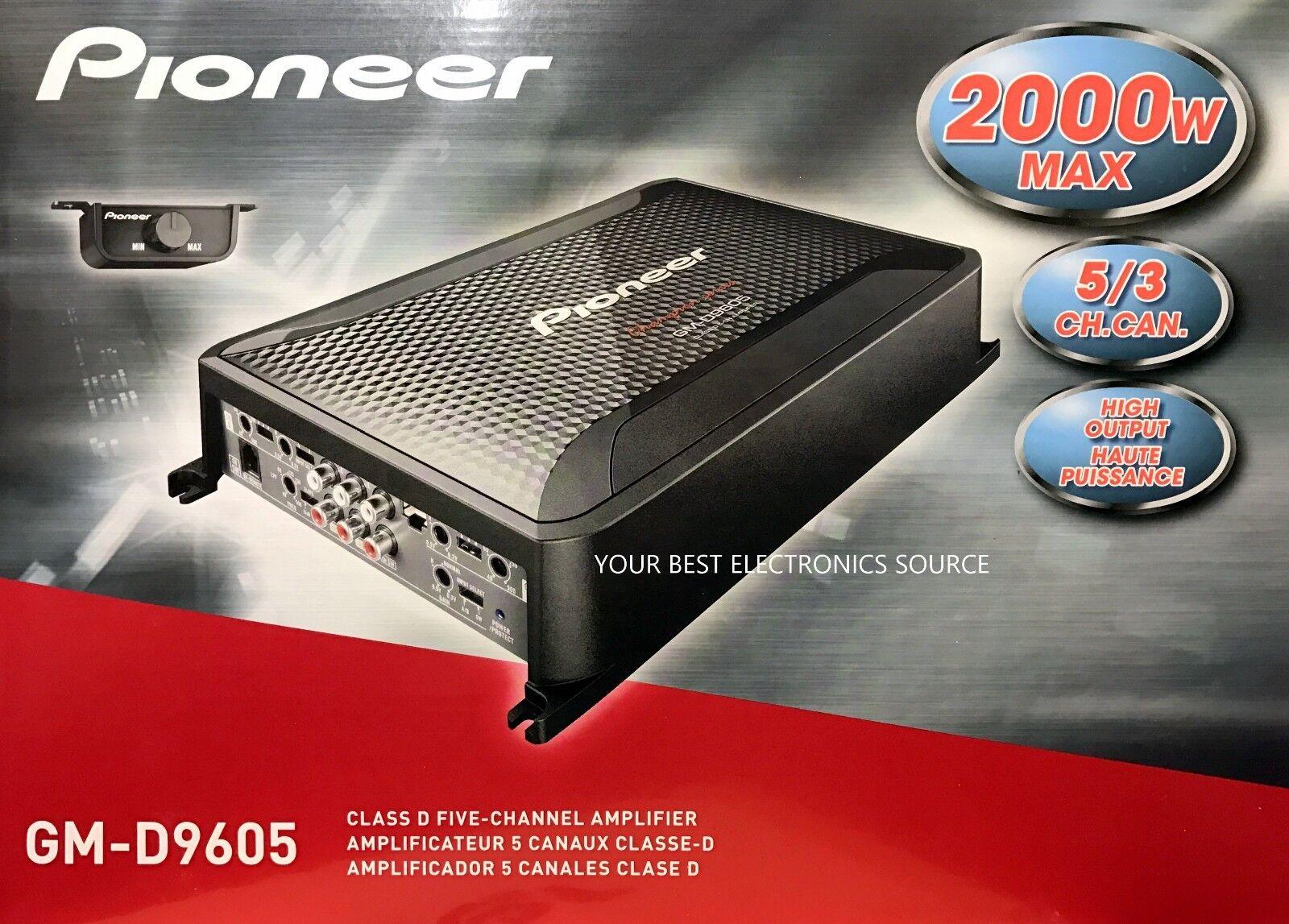 Pioneer - Gm 2000w Class Fd Bridgeable Multichannel Amplifie