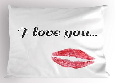 Ambesonne I Love You Pillow Sham Decorative Pillowcase 3 Siz