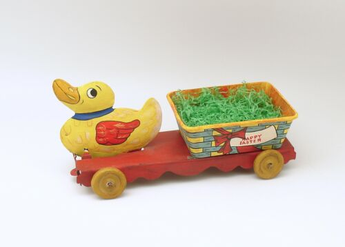 Easter Decoration Duck Cart Bethany Lowe