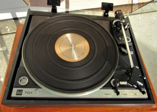 Vintage DUAL 701 Turntable W/ Cool Black Base W/ Extras Great Condition!