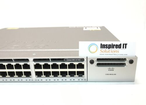 Ws-c3850-24p-s - Cisco Catalyst 3850 24 Port Poe Ip Base 715w *fast Shipping*