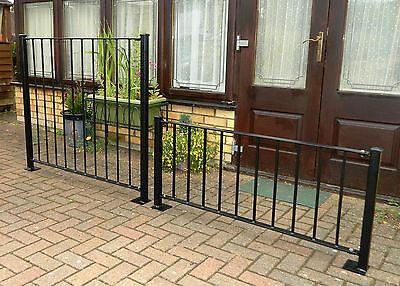 1000mm high flat top plain railing x 1200mm long 40x8mm top and bottom strip
