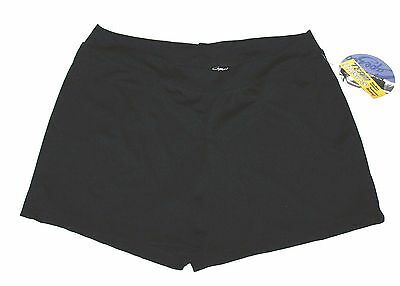 New Capezio Boy Cut Booty Shorts Low Rise Dance Yoga Stretch Black Women Plus 1X - Womens Booty Shorts