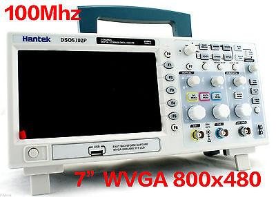 "DSO5102P Hantek Digital Oscilloscope 100MHz 2CH 7"" WVGA US LOCAL 24Hour Ship Out"