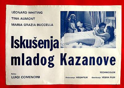 CASANOVA 1969 Filthy TINA AUMONT LEONARD WHITING MARIA GRAZIA BUCCELLA EXYU POSTER