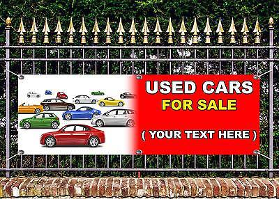 OUTDOOR PVC  USED CAR  SALE CUSTOM TEXT  BANNER GARAGE SIGN ADVERT FREE ART WORK